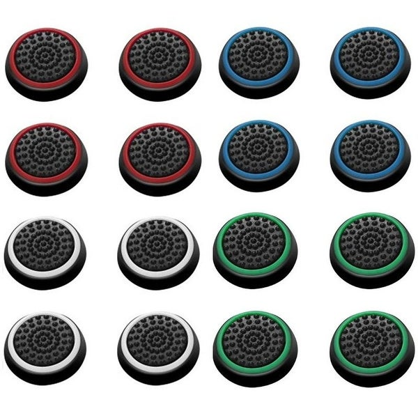 Insten 4-color Controller Analog Thumbstick Cap for Playstation 4 PS4/ PS3/ PS2/ Micrsoft Xbox 30/ Xbox One (Set of 8)