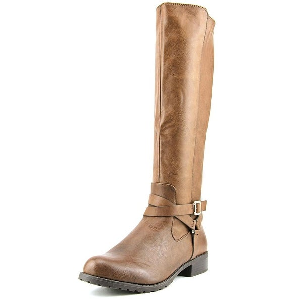 Style & Co Brigyte Women Round Toe Synthetic Brown Knee High Boot