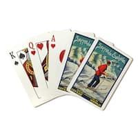 Serra da Estrela (Abrau) 1940 - Vintage Ad (Poker Playing Cards Deck)