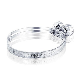 Link to Dainty Jingle Bells Numbers Bangle Bracelet For Women Wrists 6.5In 925 Sterling Silver Adjustable Bells Are Silver Plate Similar Items in Children's Jewelry