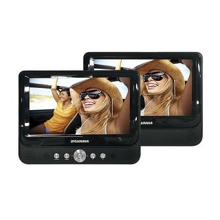 "Sylvania SDVD8737A 7"" LCD Dual Screen Portable Car DVD Media Player Manufacturer Refurbished"