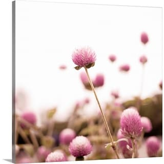 """""""Pink flowers."""" Canvas Wall Art"""