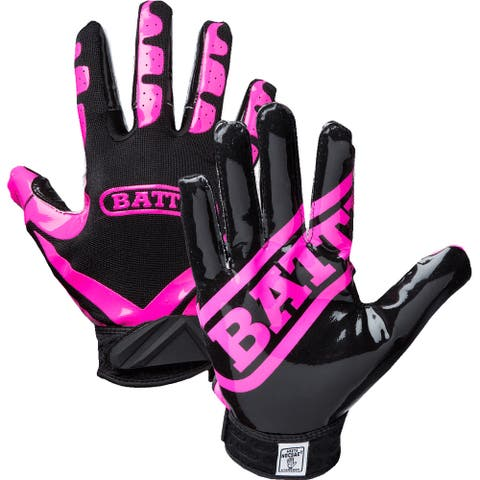 Battle Sports Science Receivers Ultra-Stick Football Gloves - Pink/Black