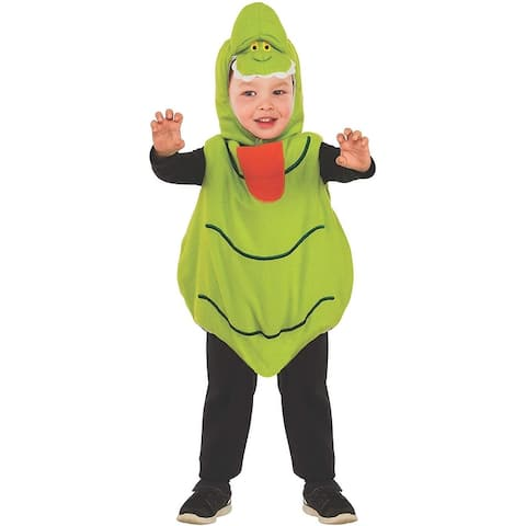 Ghostbusters Slimer Ez-on Romper Toddler Costume - Green