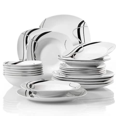 VEWEET 'Fiona' Porcelain Dinnerware Set (Service for 6)