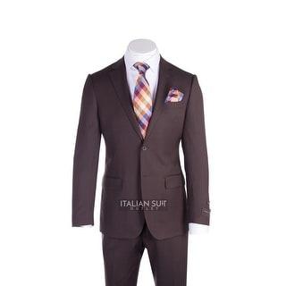 Novello Suit - Brown Birdseye, Modern Fit