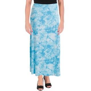 Kensie Womens Long Tie-Dye Maxi Skirt