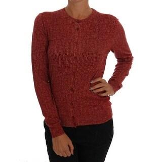 Dolce & Gabbana Red Wool Top Cardigan Sweater - it44-l