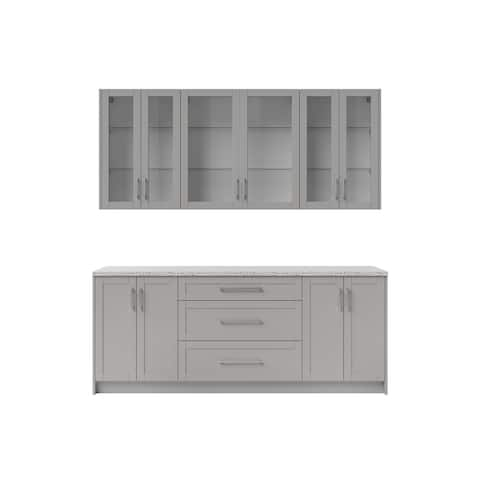 """NewAge Products 24"""" Home Bar 7 PieceCabinet Set"""