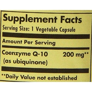 Solgar Vegetarian Coq-10 200 Mg Vegetable Capsules 30