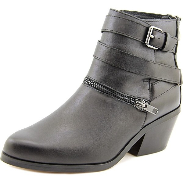 Chelsea & Zoe Sydney Women Round Toe Leather Ankle Boot