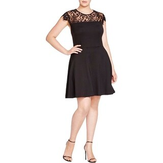 BB Dakota Womens Semi-Formal Dress STRETCH Lace-Trim