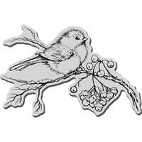 """Snow Bird - Stampendous Christmas Cling Rubber Stamp 5.5""""X4.5"""" Sheet"""