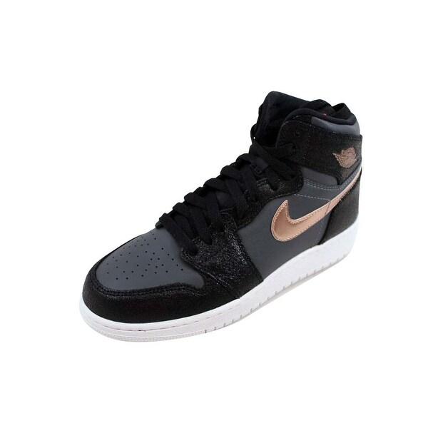 aa6899ea767cdc Nike Grade-School Air Jordan I 1 Retro High BG Black Metallic Red Bronze
