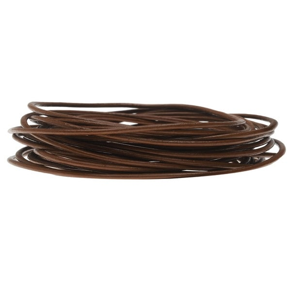 Genuine Leather Cord, Round 1.5mm, By the Yard, Chocolate