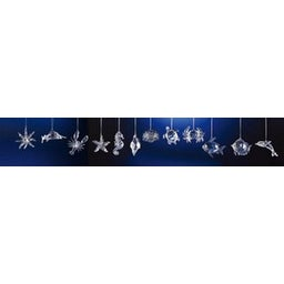 Club Pack of 48 Icy Crystal Decorative Sea Creature Ornaments 3.5""