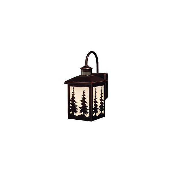 Vaxcel Lighting T0183 Yosemite 1-Light Outdoor Wall Sconce with Cream Glass Shade - Burnished Bronze - n/a