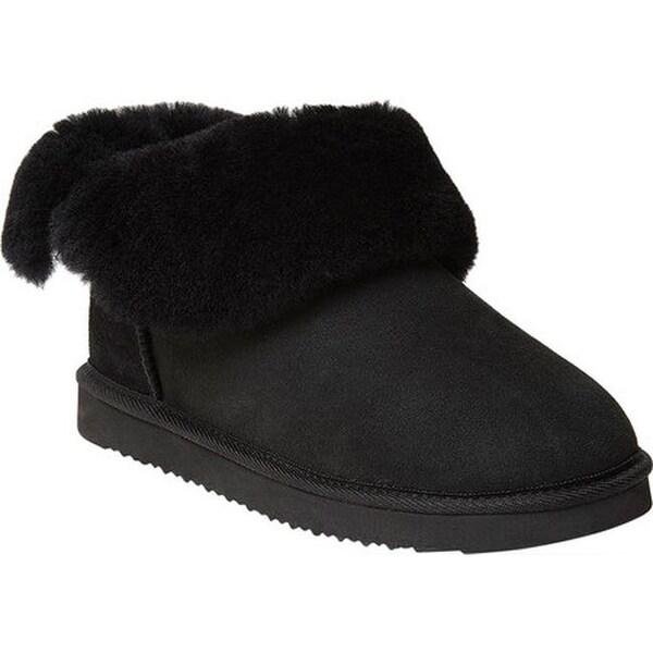 Dearfoams Women/'s   Embossed Luxe Velour Bootie Slipper