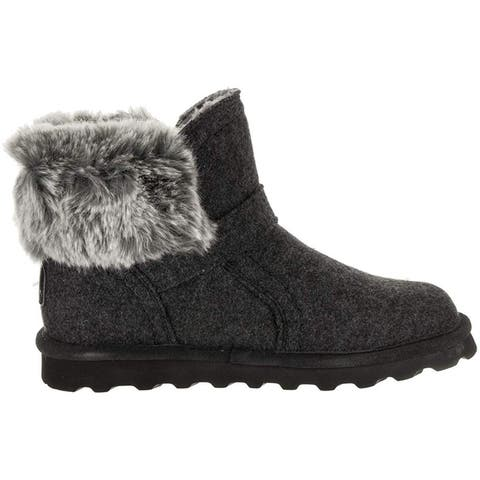 Bearpaw Womens Koko Faux Fur Closed Toe Ankle Cold Weather Boots