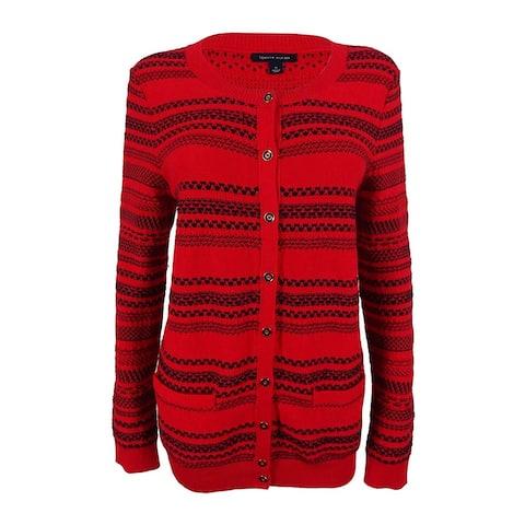 Tommy Hilfiger Women's Striped Knit Cardigan