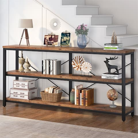 """70.8"""" Sofa Console Table, Narrow Long Console Entryway Table with Storage Shelf, TV Stand"""