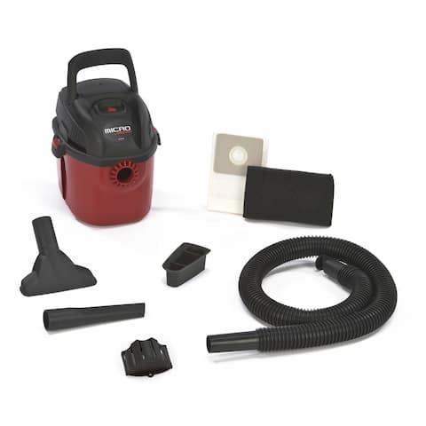 Shop-Vac 2021000 Micro Series Portable Wet/Dry Vaccum, 1-Gallon, 1 HP Peak