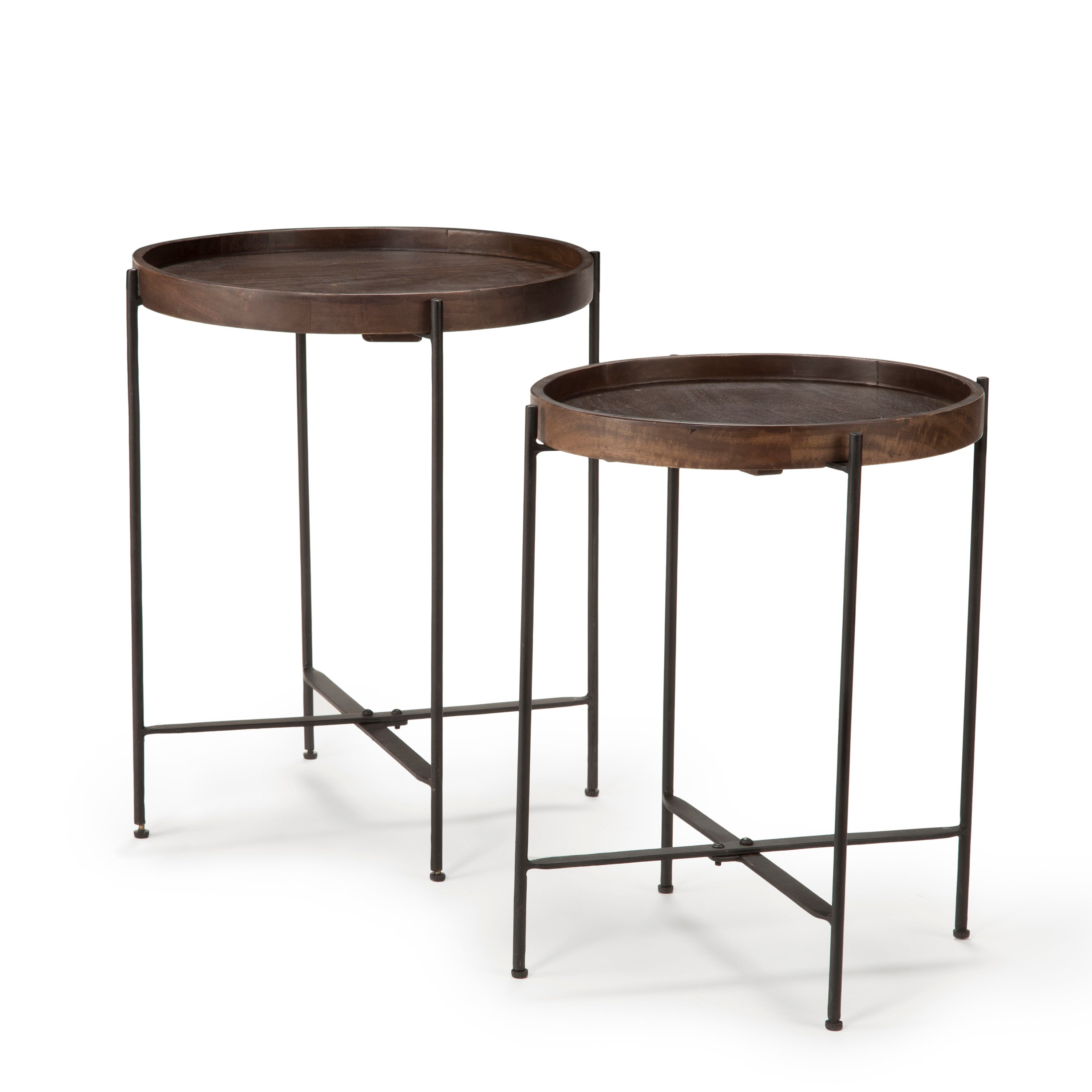 Cassidy Mango Tray Top 2 Piece Accent Table Set By Greyson Living On Sale Overstock 17350999