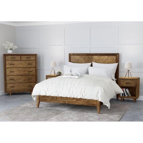Abbyson Retro Mid Century 4 Piece Bedroom Set