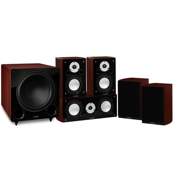 Fluance Reference Series Compact Surround Sound Home Theater 5.1 Channel System - Mahogany (XL51MC)