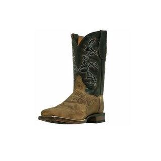 Dan Post Western Boots Mens Franklin Cowboy Mad Cat Sand Black DP2815