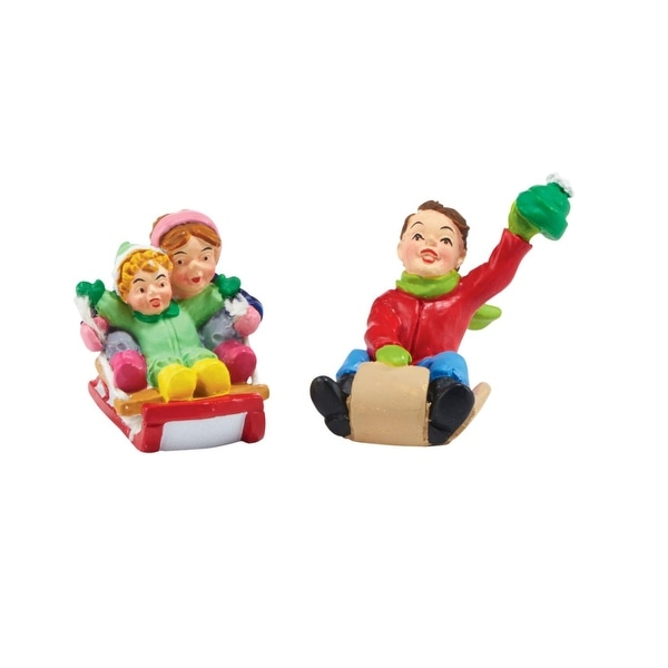 "Department 56 ""White Pines Thrill Seekers"" 2-Piece Village Accessory Set #4047544 - multi"