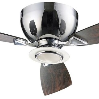 "Quorum International 70443 Nikko 44"" 3 Blade Flush Mount Indoor Ceiling Fan - Blades, Integrated Light Kit and Wall Control"