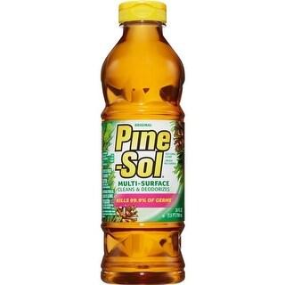 Pine-Sol CLO97326CT 28 oz Disinfectant Deodorizer -Amber
