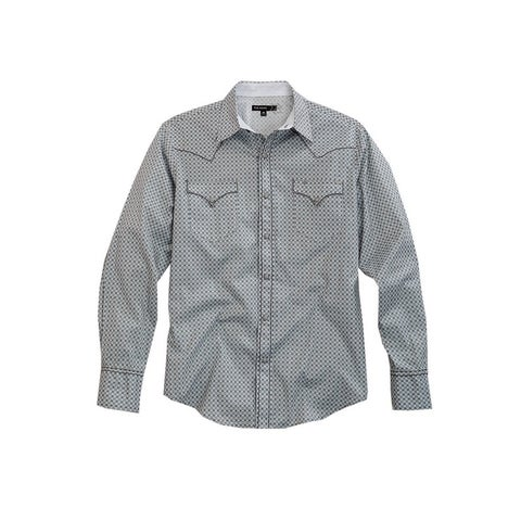 Tin Haul Western Shirt Mens L/S Circles Gray