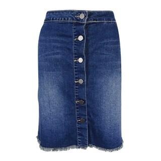 Earl Jeans Women's Button-Front Denim Skirt