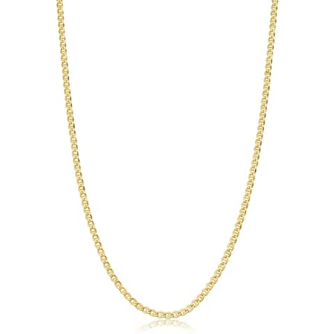 14k Yellow Gold Filled 2.55 millimeter Mariner Link Chain Necklace (16-36 inch)