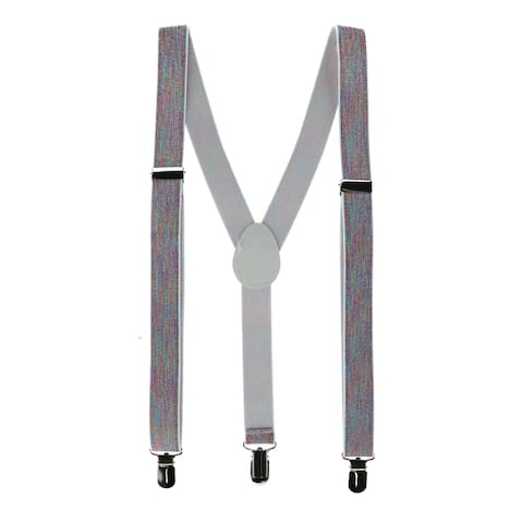 CTM® Women's Rainbow Color Clip-End Suspenders - one size