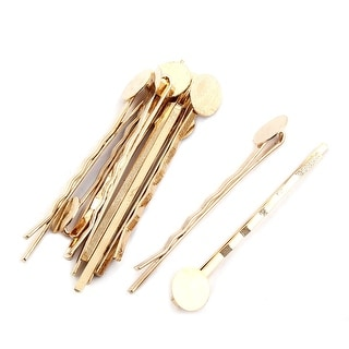 Vintage Hairdressing Barrette DIY Hairstyle Hair Clips Bobby Pin Gold Tone 10pcs