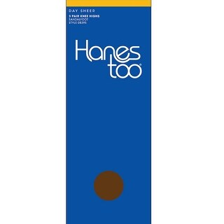 Hanes Too Sheer Knee High RT 3 Pair - Size - 1 Size - Color - Soft Beige