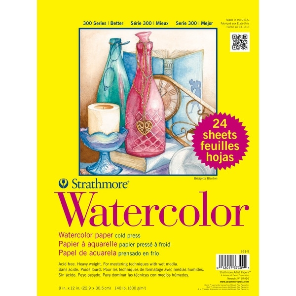 "Strathmore Watercolor Paper Pad 9""X12""-24 Sheets"