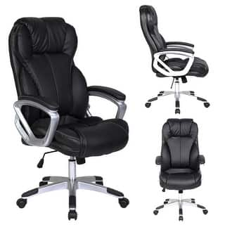 2xhome Black Leather Deluxe Professional Ergonomic High Back Executive Office Chair|https://ak1.ostkcdn.com/images/products/is/images/direct/164a0271b0b5b601144257068523e1698638e5cc/2xhome-Black-Leather-Deluxe-Professional-Ergonomic-High-Back-Executive-Office-Chair.jpg?impolicy=medium
