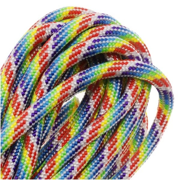 Paracord 550 / Nylon Parachute Cord 4mm - Tie Dye Rainbow (16 Feet/4.8 Meters)
