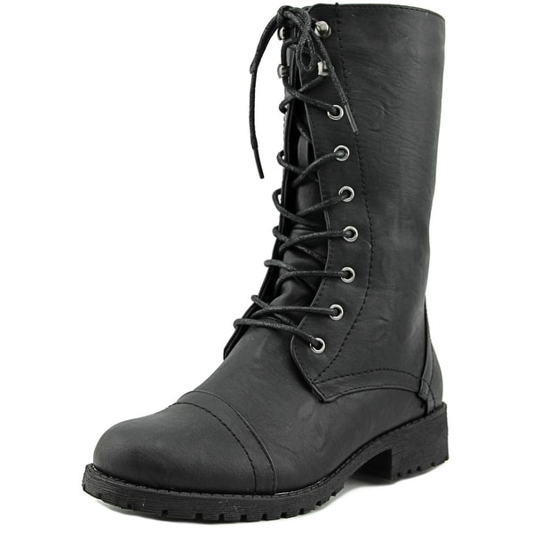 Nature Breeze Lug 11 Women Round Toe Synthetic Mid Calf Boot