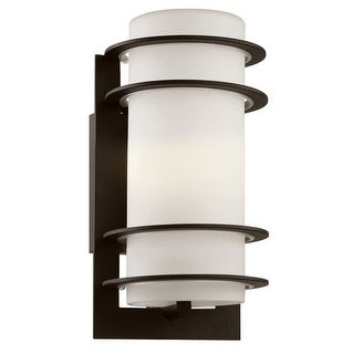 """Trans Globe Lighting 40204 1 Light 11"""" Outdoor Wall Sconce with Frosted White Shade"""