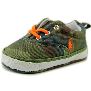 Ralph Lauren Layette Forestmont Infant Round Toe Canvas Green Sneakers