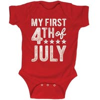 My First Fourth Of July Stars Distressed Style Usa America Infant Baby Bodysuit