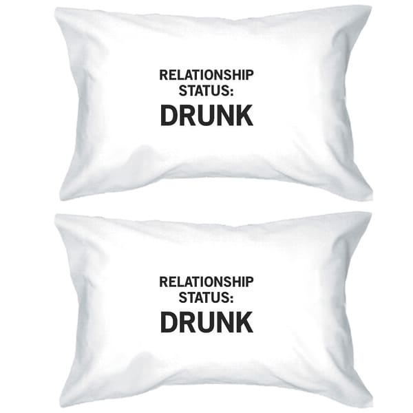 Relationship Status Humorous Graphic Pillow Case Funny Gift Ideas