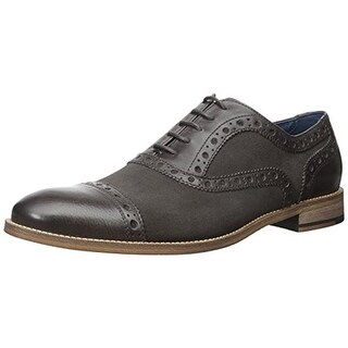 Gordon Rush Mens Logan Leather Brogue Cap Toe Oxfords - 12 medium (d)