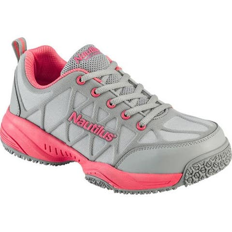 Nautilus Women's N2155 Composite Toe Athletic Grey/Pink Leather