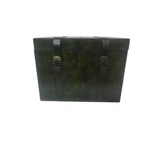 Leather Black Trunk Storage Box